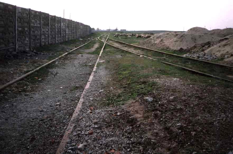 """Die Weiche zur """"Apemin"""". Sicht in Richtung Busiascher Bahnhof"""