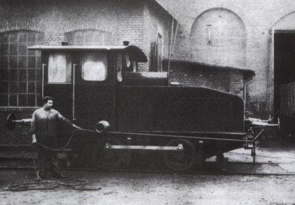 """Gesamtansicht einer Deutz - Motorlokomotive der gleichen Baureihe wie unser """"George"""""""