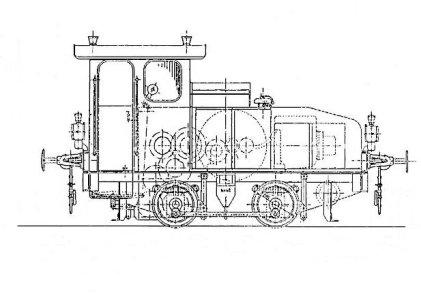 Prinzipdarstellung der Motorlokomotive