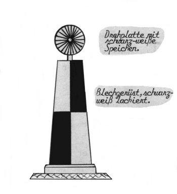 Herr Josef-Franz Schreck zeichnete uns freundlicherweise aus seinem Gedächnis eine ziemlich genaue Skizze dieser Signalanlage