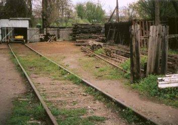Das Gelände der heutigen Streckenwärter am Bahnhof