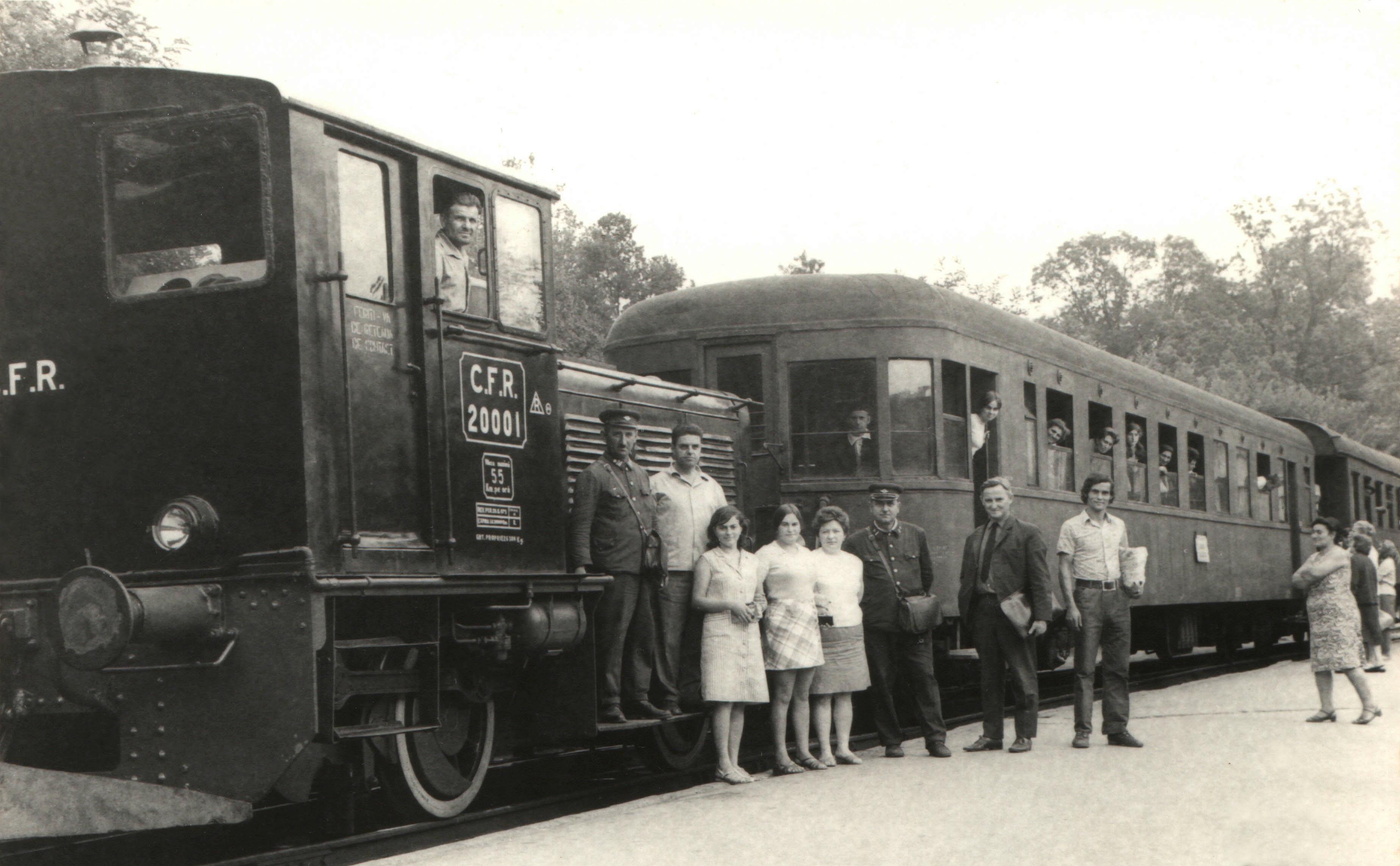 """Die """"Kleine Bahn"""" mit Diesellok 20.001 in September 1973"""