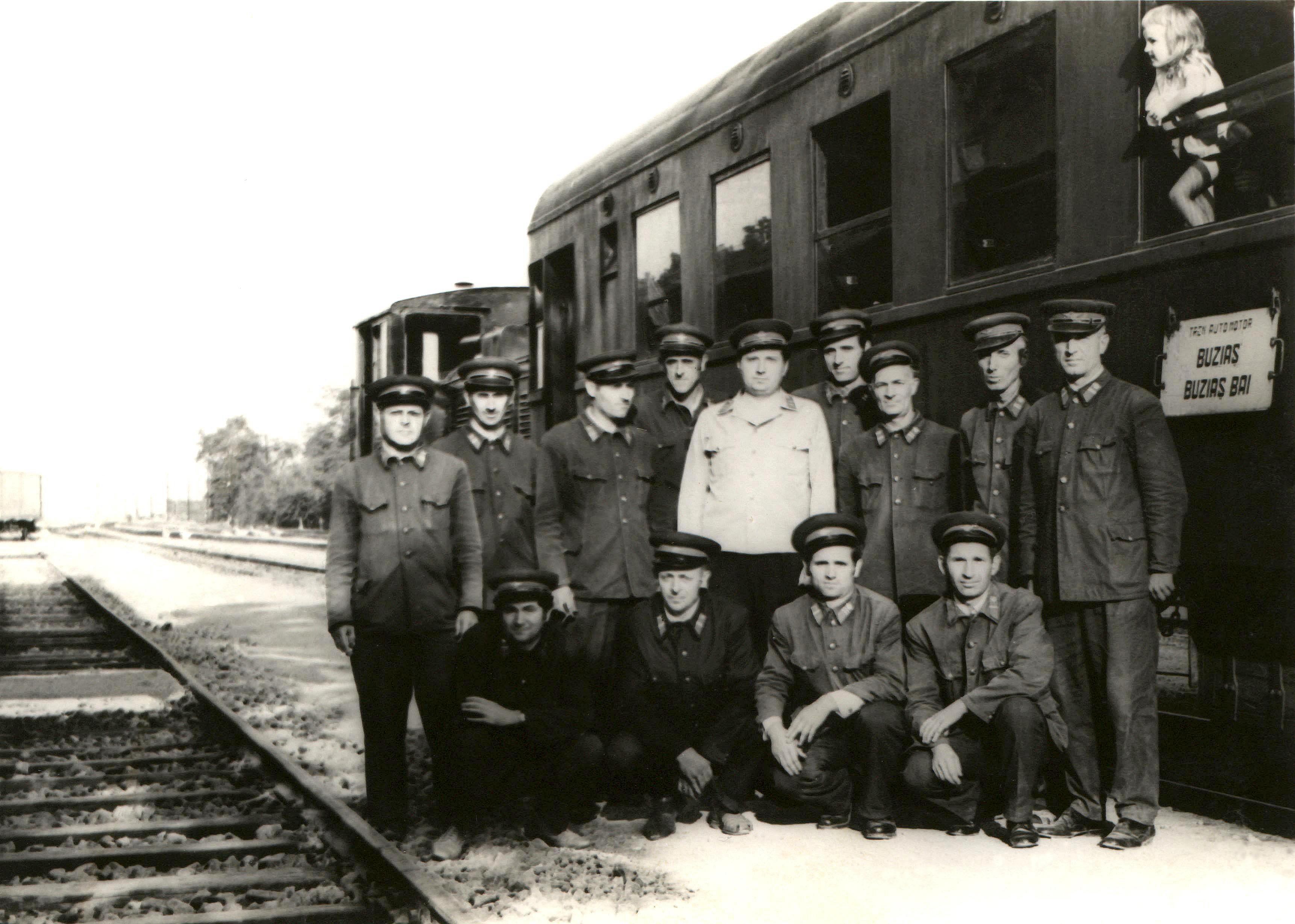 Abschiedsfoto der Bahnwärter