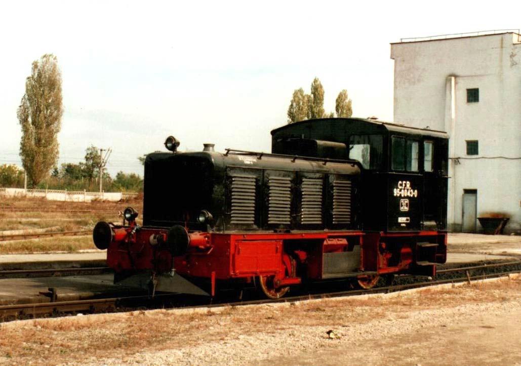 95-0043-0 (20.043) Betriebsfähig und in einem sehr guten Zustand, auf einem Rangierbahnhof bei Bukarest.
