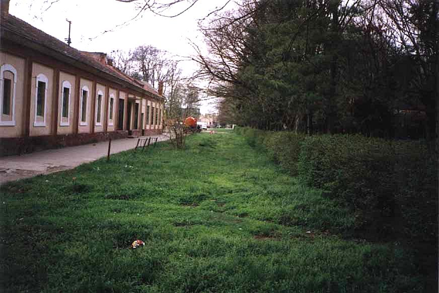 Der ehemalige Bahnsteig