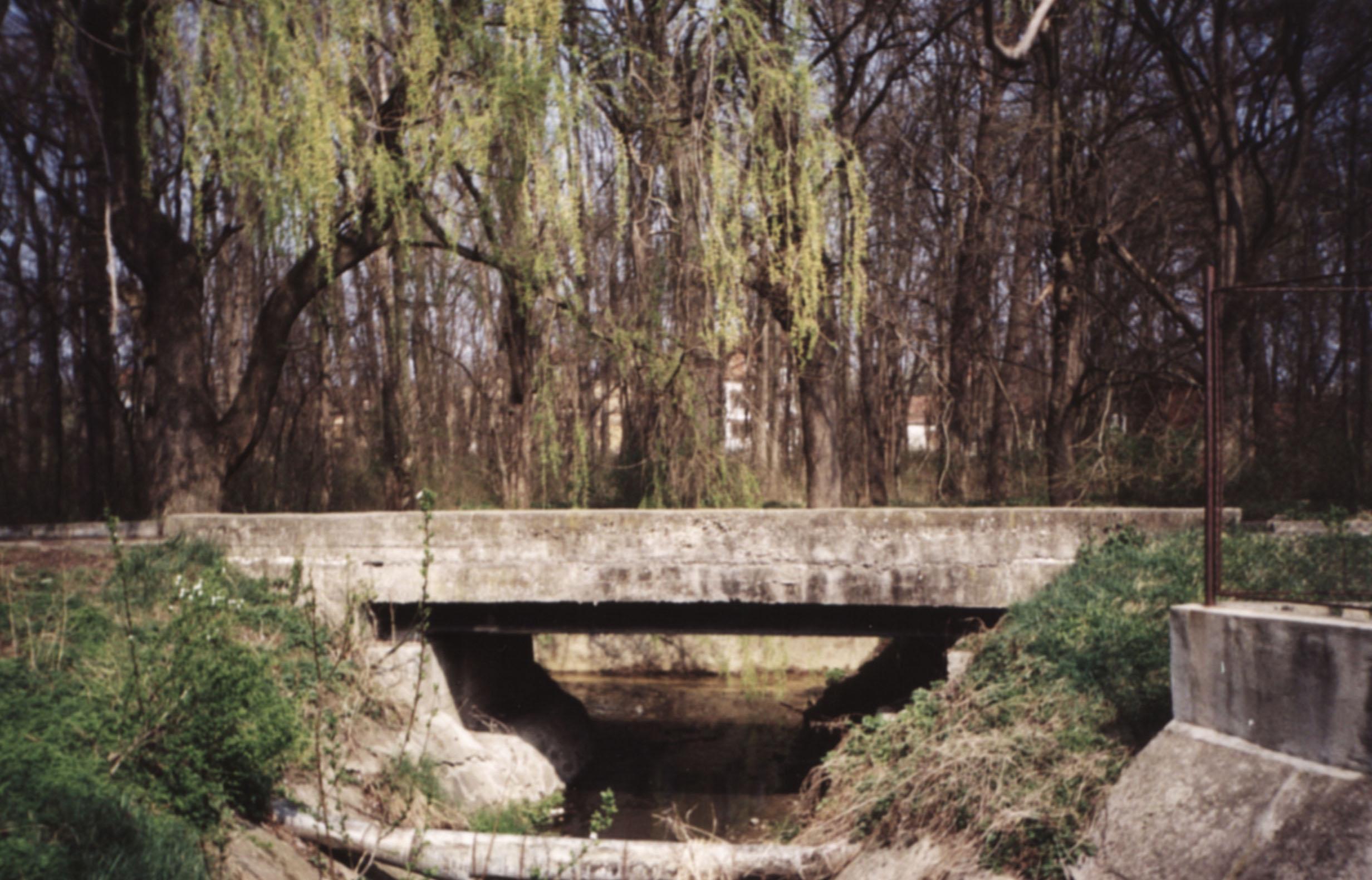 Die Brücke über den Silascher Bach